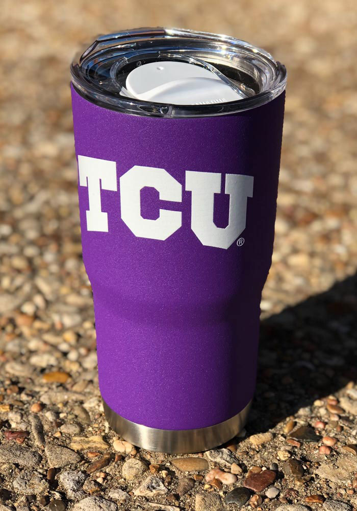 TCU Horned Frogs Team Logo 20oz Stainless Steel Tumbler - Purple - Image 2