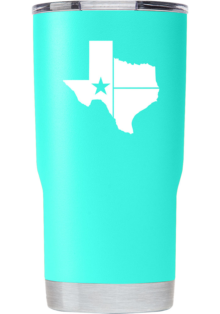 Texas Lone Star State of Mind 20oz Stainless Steel Tumbler - Teal - Image 1