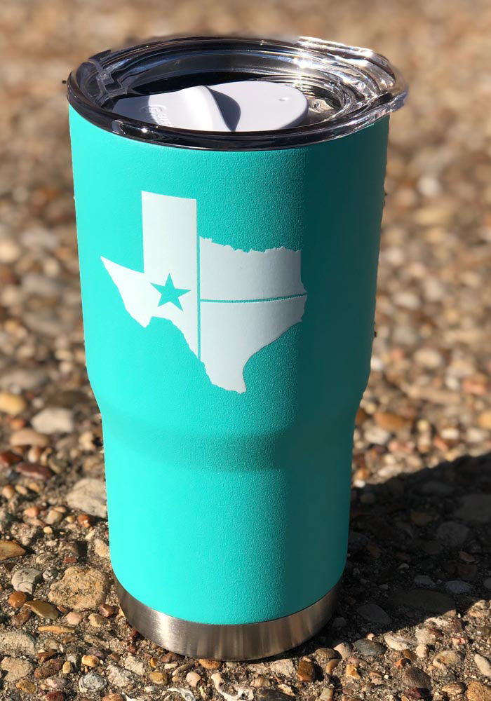 Texas Lone Star State of Mind 20oz Stainless Steel Tumbler - Teal - Image 2