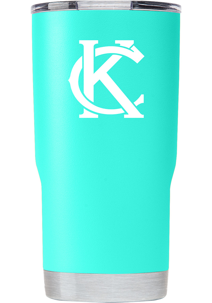 Kansas City KC Interlock 20oz Stainless Steel Tumbler - Teal - Image 1