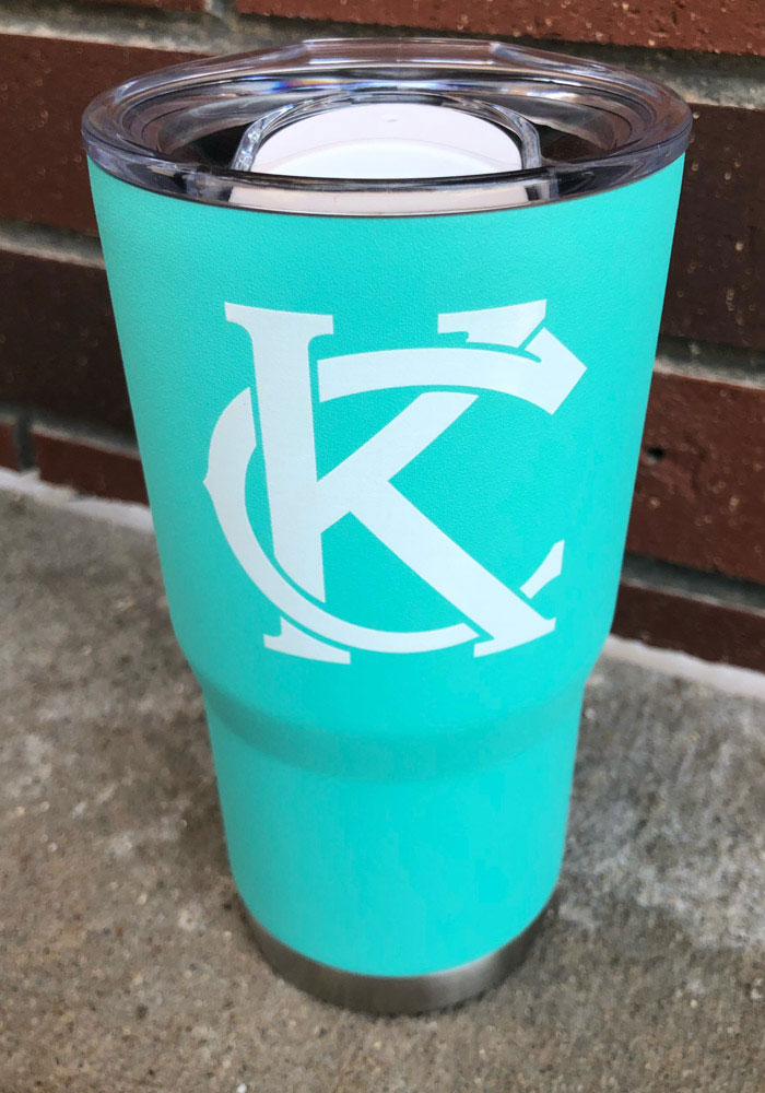 Kansas City KC Interlock 20oz Stainless Steel Tumbler - Teal - Image 2