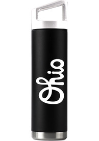 Ohio Script 22oz Bottle with White Cap Stainless Steel Tumbler - Black