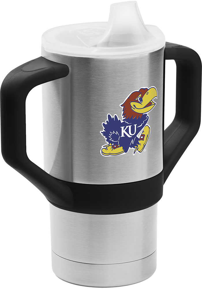 Kansas Jayhawks Team Logo 8oz Stainless Steel Stainless Steel Tumbler - Black