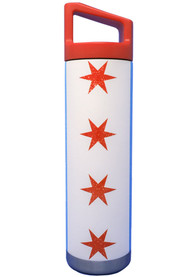 Chicago Flag Wrap 22oz Stainless Steel Tumbler - Red