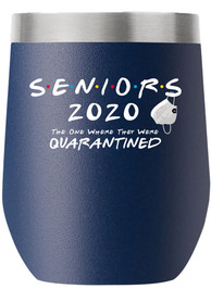 RALLY 12 oz Stemless Wine Stainless Steel Tumbler - Navy Blue