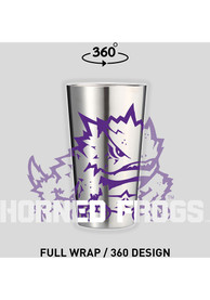 TCU Horned Frogs 16 oz Stainless Steel Pint Glass
