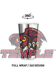 Temple Owls 16 oz Stainless Steel Pint Glass