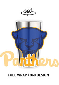 Pitt Panthers 16 oz Stainless Steel Pint Glass