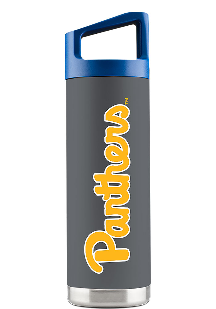 Pitt Panthers 16 oz Bottle Stainless Steel Tumbler - Grey