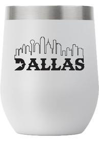 Dallas Ft Worth City 12oz Stemless Stainless Steel Tumbler - Grey