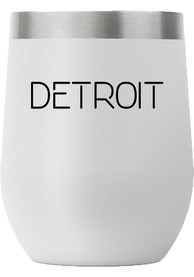 Detroit City 12oz Stemless Stainless Steel Tumbler - Grey