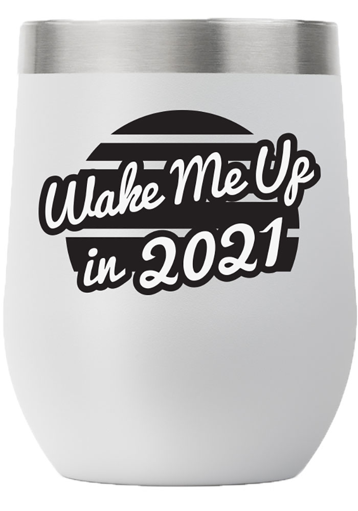 RALLY 12oz Stemless Wine Stainless Steel Tumbler - Grey - Image 1