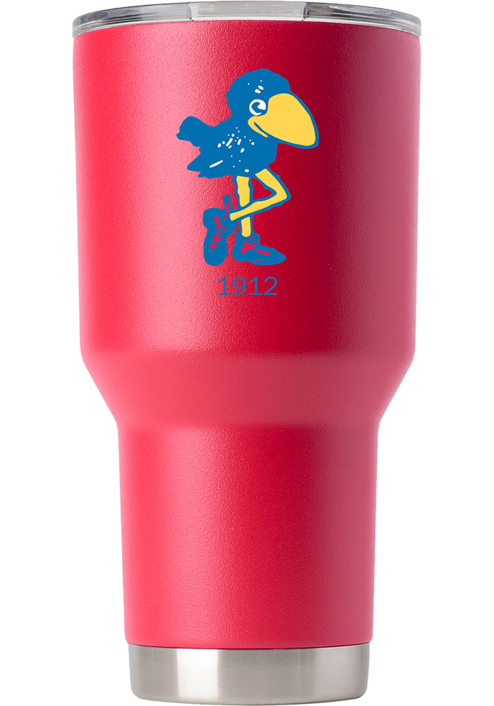 Kansas Jayhawks Vault Logo 30oz Stainless Steel Tumbler - Red