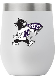 K-State Wildcats Team Logo 12oz Stemless Stainless Steel Tumbler - Grey