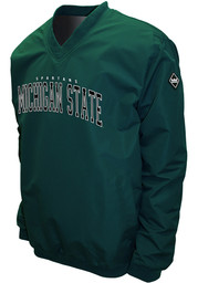 Michigan State Spartans Mens Green Members Pullover Jackets