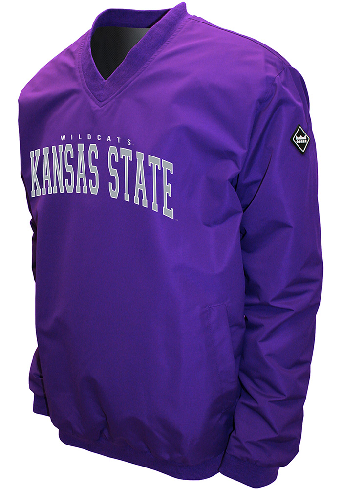 K-State Wildcats Mens Purple Members Pullover Jackets - Image 1