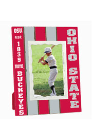 Ohio State Buckeyes Striped Picture Frame