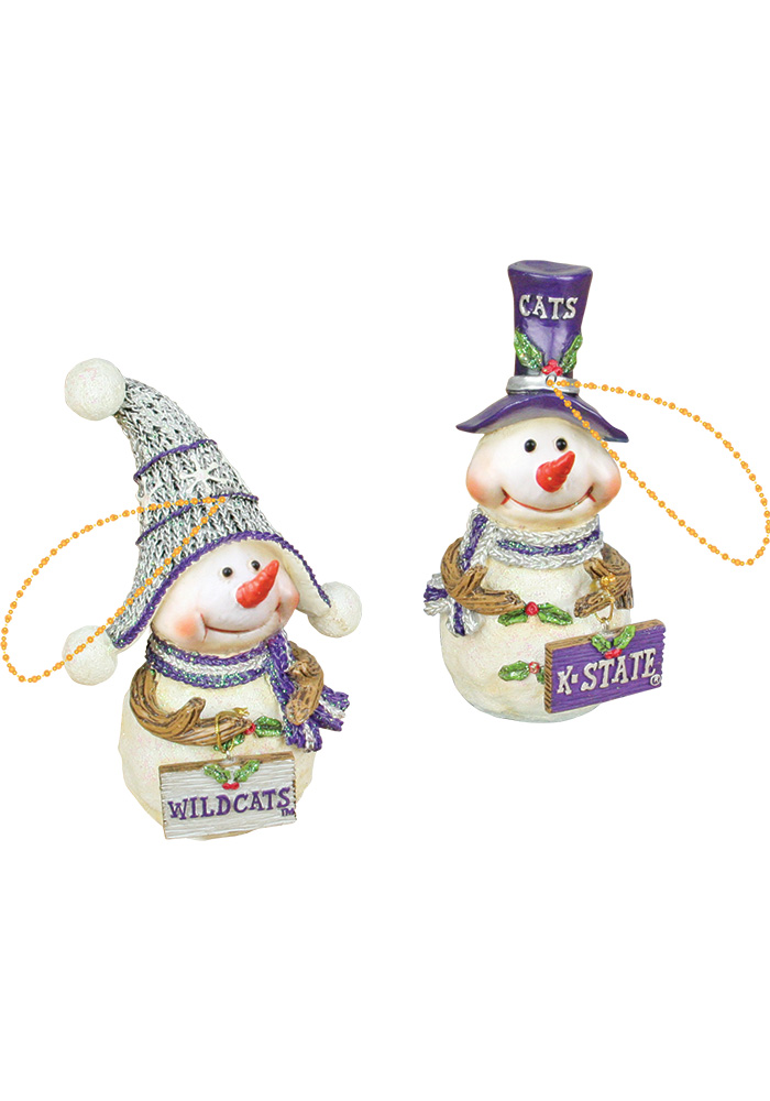 K-State Wildcats Resin Snowman Ornament - Image 1