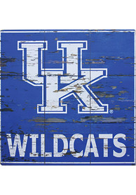 Kentucky Wildcats Distressed Wood Sign
