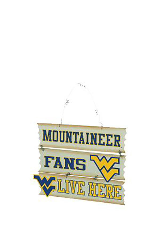 West Virginia Mountaineers Hanging Fan Sign - Image 1