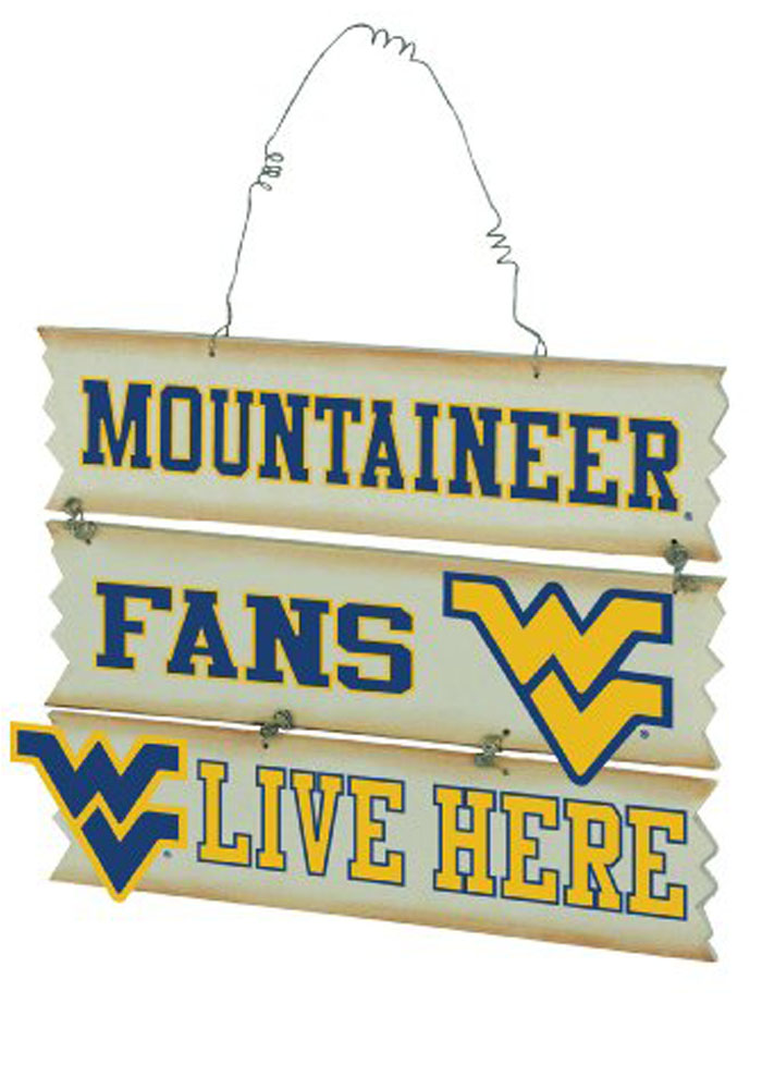 West Virginia Mountaineers Hanging Fan Sign - Image 2