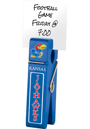 Kansas Jayhawks Large Wooden Clip Desk Accessory