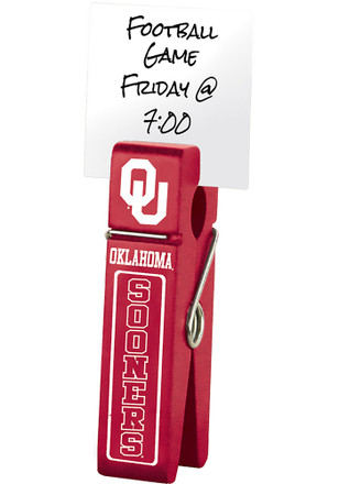 Oklahoma Sooners Large Wooden Clip Desk Accessory