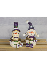 TCU Horned Frogs Snowman Fans 2-Pack Decor