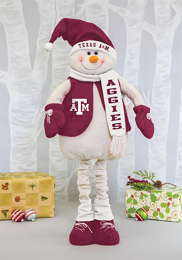 Texas A&M Aggies Frosty Mascot Snowman Decor - Image 1