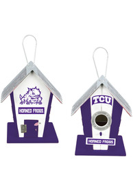 TCU Horned Frogs Wooden Birdhouse Bird Accessory