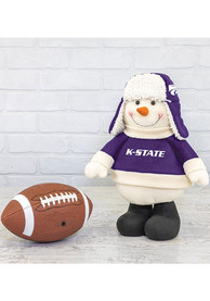 K-State Wildcats Sherpa Snowman Decor