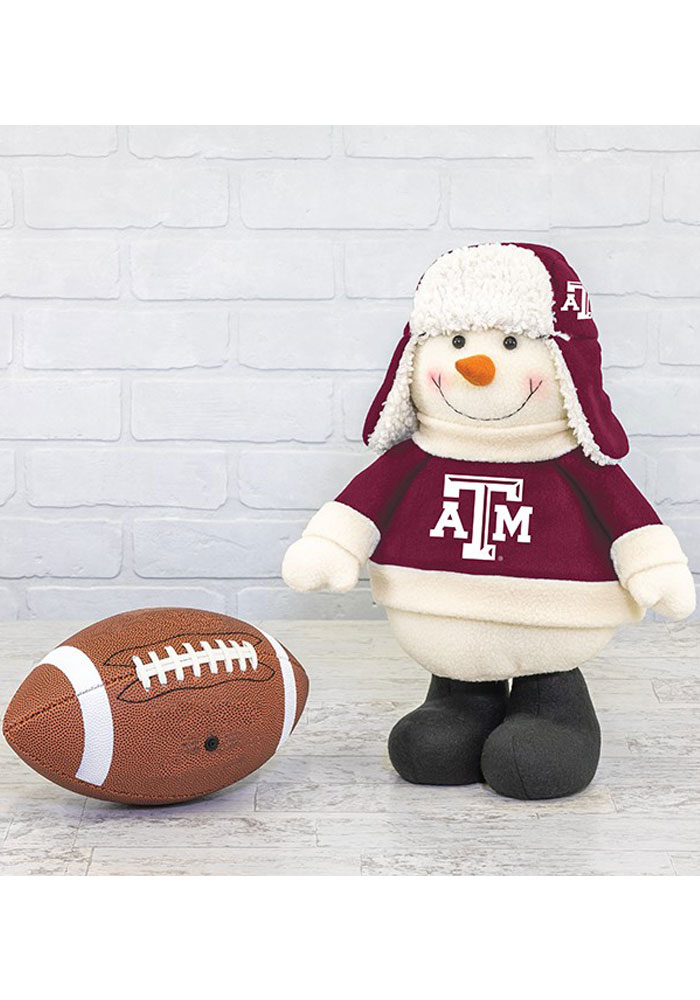 Texas A&M Aggies Sherpa Snowman Decor - Image 1