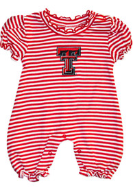 Texas Tech Red Raiders Baby Red Stripe Puff Sleeve One Piece