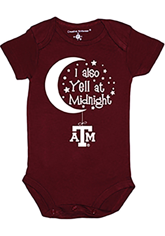 Texas A&M Aggies Baby Maroon Maroon Yell At Midnight One Piece