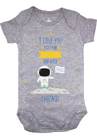 Chicago Grey Baby To the Moon and Back Short Sleeve One Piece