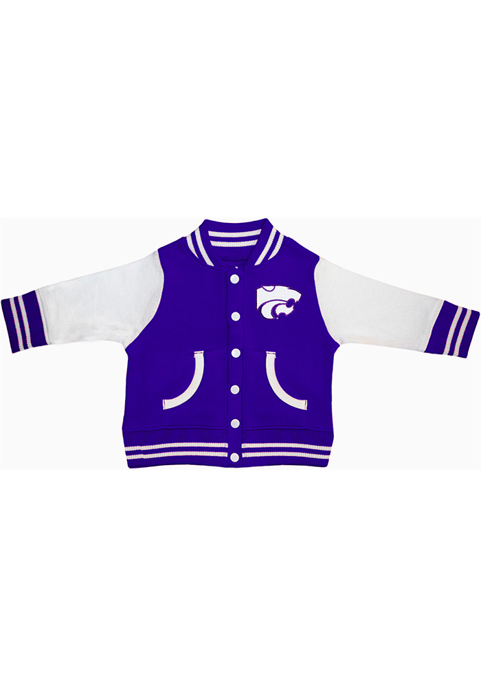 K-State Wildcats Baby Purple Varsity Light Weight Jacket - Image 1
