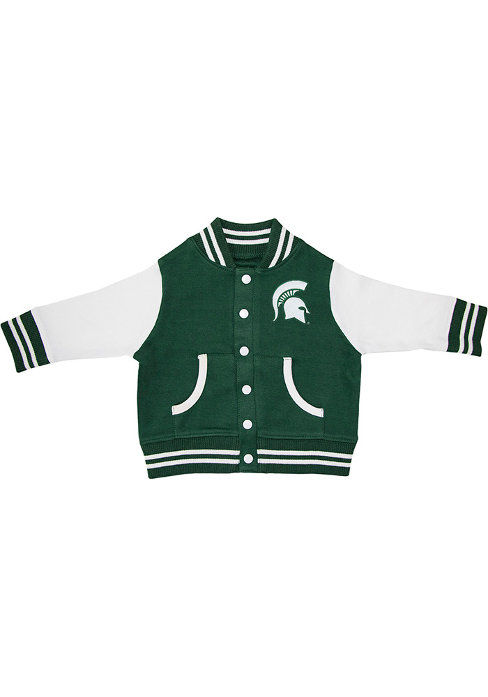 Michigan State Spartans Toddler Green Varsity Outerwear Light Weight Jacket - Image 1
