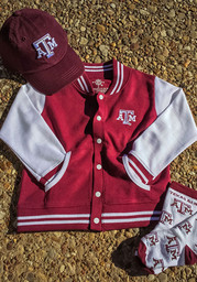 Texas A&M Aggies Toddler Maroon Varsity Outerwear Light Weight Jacket