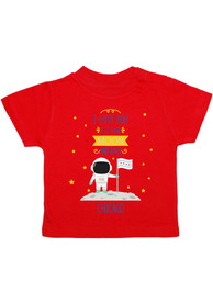 Chicago Toddler Red To the Moon and Back Short Sleeve T Shirt