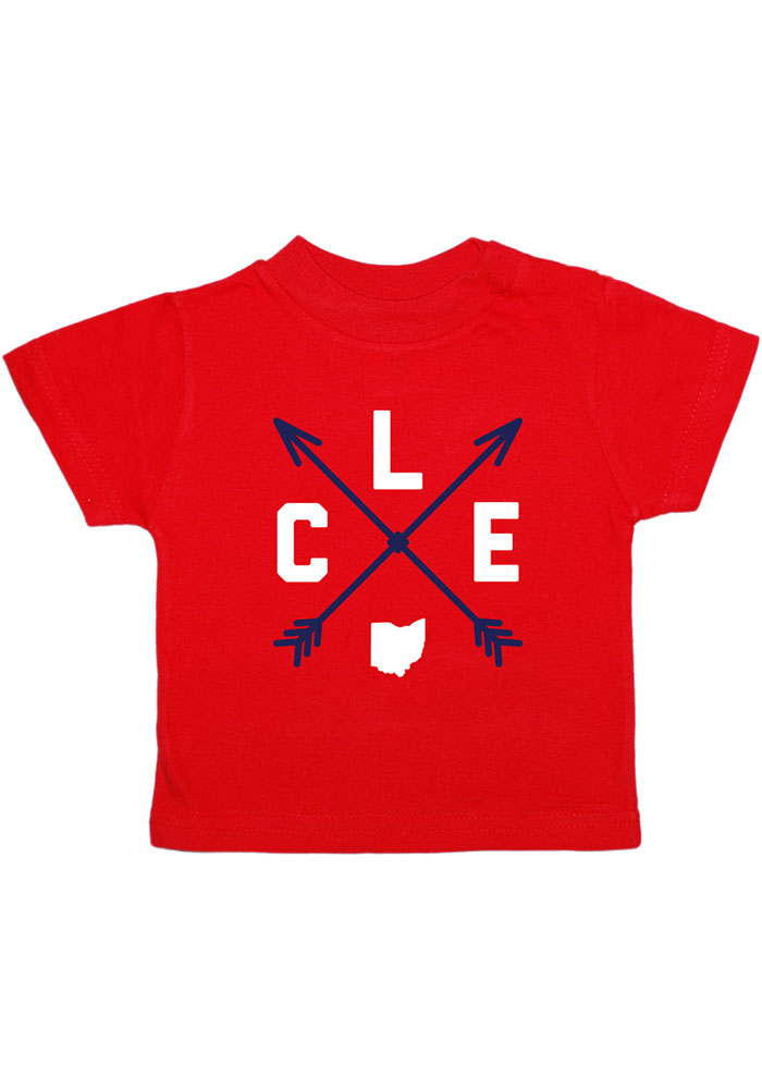 Cleveland Toddler Red Clev Arrows Short Sleeve T Shirt - Image 1