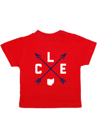 Cleveland Toddler Red Clev Arrows Short Sleeve T Shirt