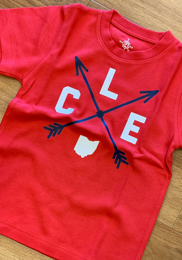 Cleveland Toddler Red Clev Arrows Short Sleeve T Shirt - Image 2