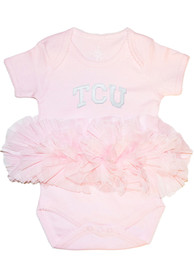 TCU Horned Frogs Baby Tutu One Piece - Pink
