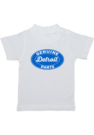 Detroit Toddler White Genuine Parts Short Sleeve T Shirt
