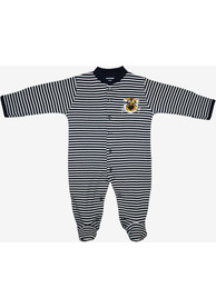 Missouri Tigers Baby Striped Footed Black Striped Footed One Piece Pajamas