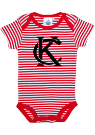 Kansas City Baby Red Stripes Monogram One Piece