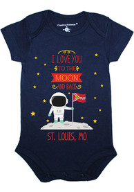 St Louis Baby Navy Blue To the Moon and Back One Piece