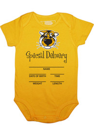 Missouri Tigers Baby Special Delivery One Piece - Black
