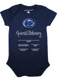 Penn State Nittany Lions Baby Special Delivery One Piece - Navy Blue