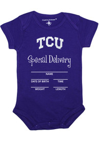 TCU Horned Frogs Baby Purple Special Delivery One Piece